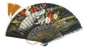 Open zwarte ventilator Royalty-vrije Stock Afbeeldingen