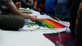 Openair art therapy helps to heal soul, purifying mind and pouring out emotions