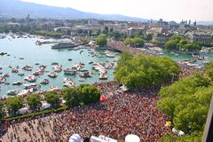 Openair Rave. StreetParade, in Zurich, Switzerland Stock Image