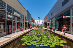 Openair shopping center in Ashdodo, Israel. Royalty Free Stock Photography
