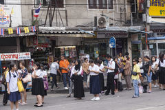 Openbaar busstation in Bangkok Stock Afbeelding