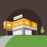 Openbaar gebouw met gebrandschilderd glasvensters Royalty-vrije Stock Foto