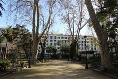 Openbaar park in Algeciras Stock Afbeeldingen
