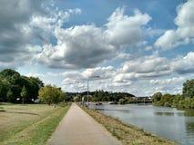 Openbaar park in Regensburg, Duitsland stock fotografie