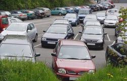 Openbaar parkeerterrein stock foto's