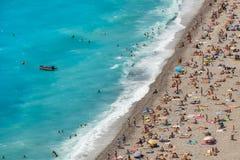 Openbaar strand in Nice, Frankrijk Stock Afbeelding