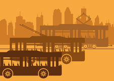 Openbaar vervoer stock illustratie