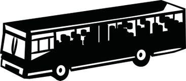 Openbaar vervoer - de dienstbus royalty-vrije illustratie