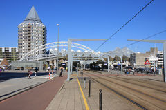 Openbaar vervoer in de Stad van Rotterdam, Nederland Royalty-vrije Stock Foto