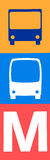 Openbaar vervoer in het teken van Helsinki stock afbeeldingen