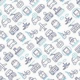 Openbaar vervoer naadloos patroon stock illustratie