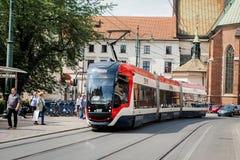 Openbaar vervoer in Polen Stock Fotografie