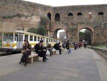 Openbaar vervoer in Rome, Italië stock foto's