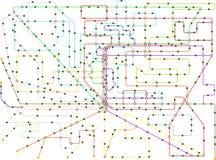 Openbaar vervoerkaart van een grote stad vector illustratie