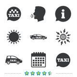 Openbaar vervoerpictogrammen De bellentekens van de taxitoespraak vector illustratie
