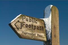 Openbaar voetpadteken Royalty-vrije Stock Fotografie