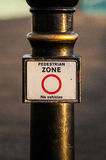 Openbaar waarschuwingsbord Stock Foto