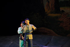 Openbaar zijn diepste gevoel - Jiangxi-opera een weeghaak Stock Afbeelding