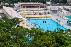 Openbaar zwembad in Hong Kong Stock Fotografie