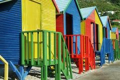 Openbare badkamerss van het strand van Heilige James in Muizenberg Stock Fotografie