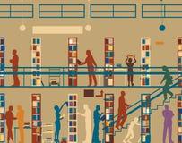 Openbare bibliotheek royalty-vrije illustratie
