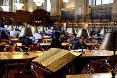 Openbare bibliotheekbinnenland Royalty-vrije Stock Foto
