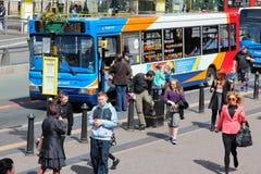 Openbare bus in Liverpool royalty-vrije stock foto's