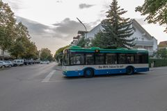 Openbare bus in München stock afbeelding
