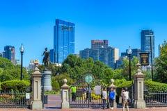 Openbare de Tuiningang van Boston stock fotografie