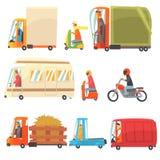 Openbare en Persoonlijke Vervoer Toy Cars And Trucks Collection van Kinderachtige Kleurrijke Vervoersvoertuigen Stock Afbeelding