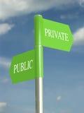 Openbare en privé domeinen Stock Foto
