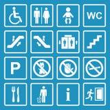 Openbare geplaatste pictogrammen stock illustratie