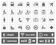 Openbare geplaatste tekens Royalty-vrije Stock Afbeeldingen
