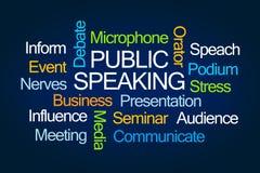 Openbare het Spreken Word Wolk Royalty-vrije Stock Afbeelding