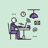 Openbare Hotspot Streek Draadloos Internet Vrij WiFi royalty-vrije illustratie