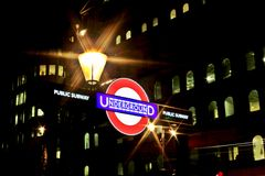 Openbare metro ondergronds Royalty-vrije Stock Afbeelding
