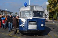 Openbare Open Dag op de garage Cinkota XXXI van de 40 éénjarigenbus Stock Foto's
