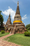 Openbare oude tempel in Ayuthaya, Thailand Stock Foto's