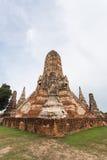 Openbare oude tempel in Ayuthaya, Thailand Royalty-vrije Stock Afbeelding