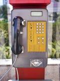 Openbare publieke telefooncel Stock Afbeelding