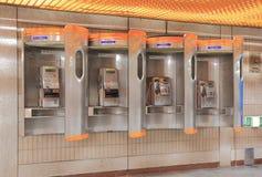 Openbare publieke telefooncel Seoel Zuid-Korea royalty-vrije stock afbeeldingen