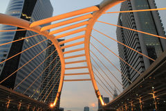 Openbare skywalk, Bangkok, Thailand Stock Foto's