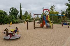 Openbare Speelplaats bij het Park royalty-vrije stock afbeeldingen