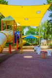 Openbare speelplaats in Neve David, Haifa royalty-vrije stock foto's