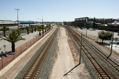 Openbare Spoorweg - Fremantle - Australië Royalty-vrije Stock Foto's