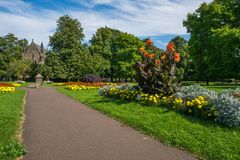 Openbare stedelijke tuin in Koningen Lynn, Norfolk het UK Stock Foto's