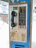 Openbare telefoons vuil in Bangkok, Thailand royalty-vrije stock foto