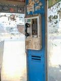 Openbare telefoons vuil in Bangkok, Thailand stock afbeeldingen