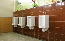 Openbare toiletruimte Royalty-vrije Stock Foto's
