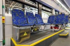 Openbare tram binnen Royalty-vrije Stock Foto's